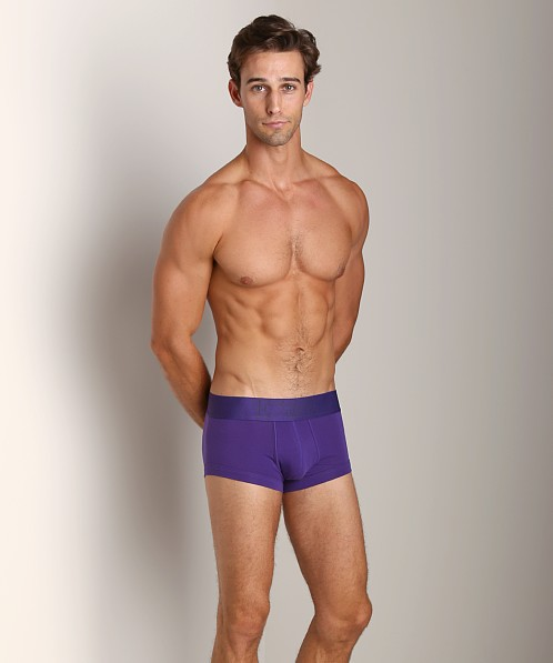 Emporio Armani Classic Stretch Cotton Trunk Dark Violet