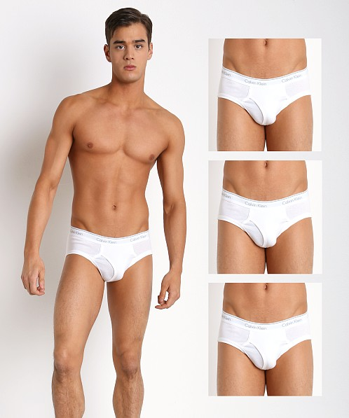 Calvin Klein Cotton Classics Low Rise Briefs 4-Pack White