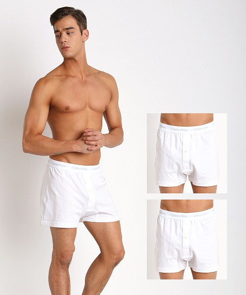 Calvin Klein Cotton Classics Knit Boxer 3-Pack White