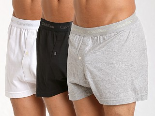 Complete the look: Calvin Klein Cotton Classics Knit Boxer 3-Pack Grey/White/Black