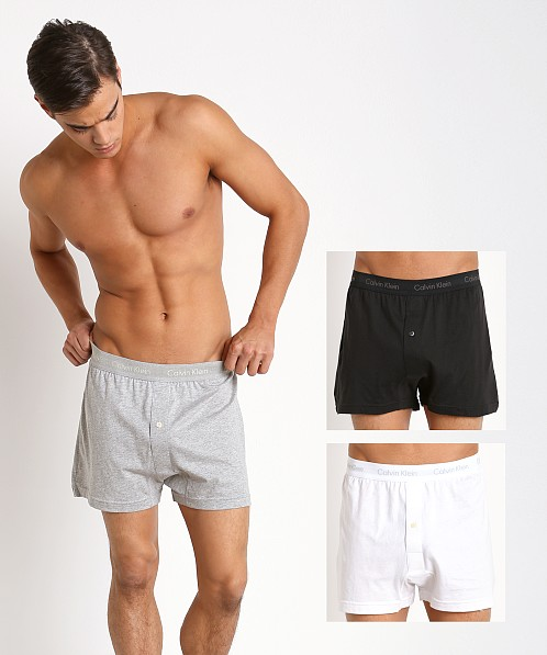 brand quality 2019 discount sale hot-selling clearance Calvin Klein Cotton Classics Knit Boxer 3-Pack Grey/White/Black