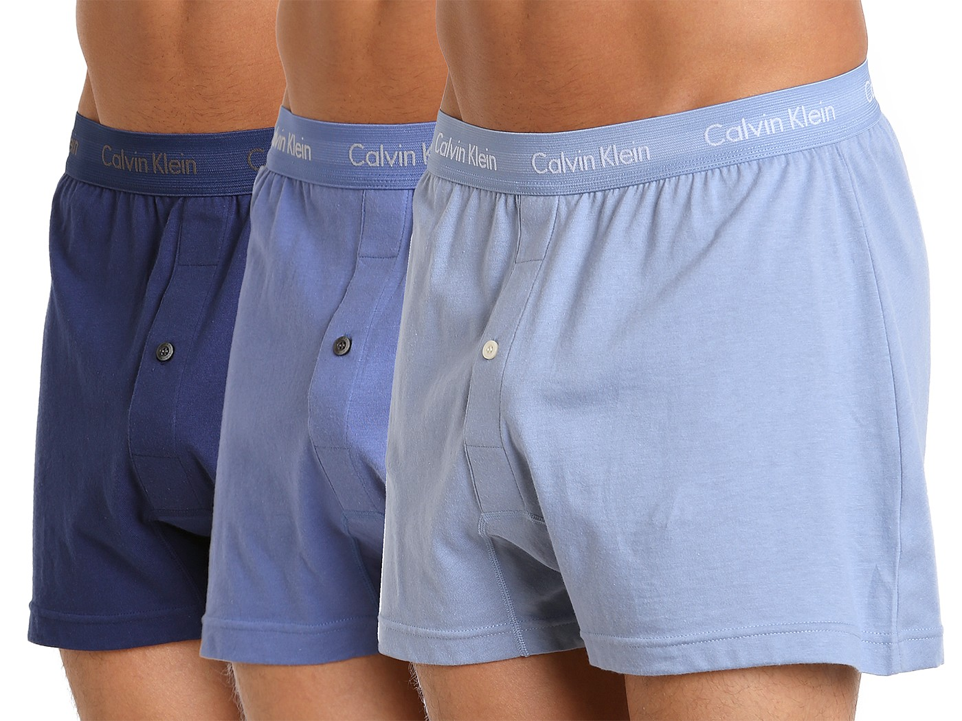 f441031a2c40 Calvin Klein Cotton Classics Knit Boxer 3-Pack Blue/Water/Blue NU3040-400  at International Jock