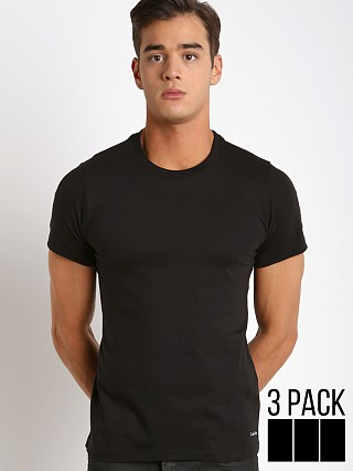 Calvin Klein Cotton Classics Crew Neck Shirt 3-Pack Black