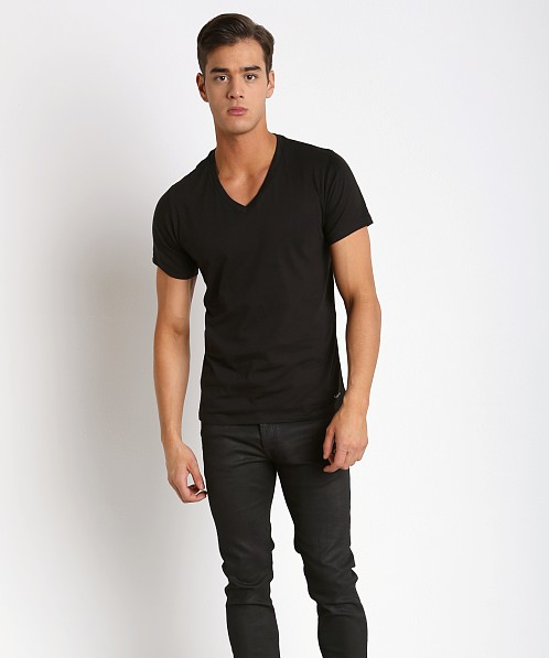 Calvin Klein Cotton Classics V-Neck Shirt 3-Pack Black
