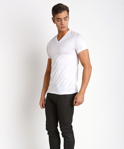 Calvin Klein Cotton Classics V-Neck Shirt 3-Pack White