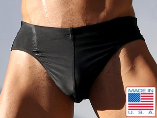 Rufskin Bombe Back Buckle Swim Brief Black