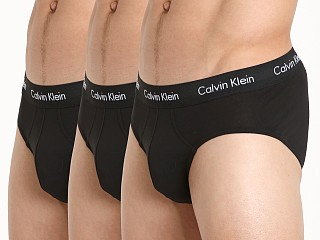 Calvin Klein Cotton Stretch Hip Brief 3-Pack Black