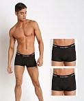 Calvin Klein Cotton Stretch Low Rise Trunk 3-Pack Black, view 1