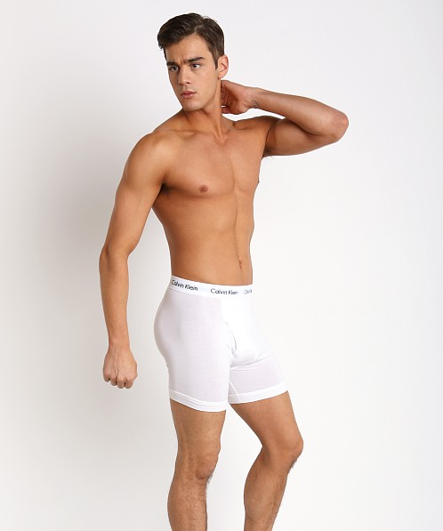 Calvin Klein Cotton Stretch Boxer Briefs 3-Pack White