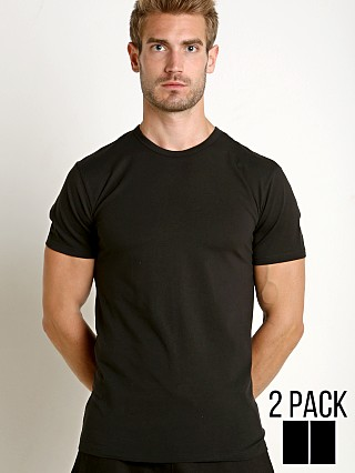 Complete the look: Calvin Klein Cotton Stretch Crew Neck Shirt 2-Pack Black