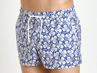 "Parke and Ronen 2"" Barcelona Swim Short Navy White Greenleaf"