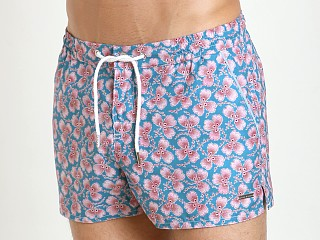 "Parke and Ronen 2"" Barcelona Swim Short Teal Rose Greenleaf"