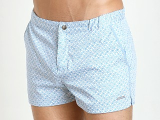 "You may also like: Parke and Ronen 2"" Angeleno Swim Short White Blue Positano"