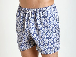 "Parke and Ronen 4"" Volley Swim Short Navy White Greenleaf"