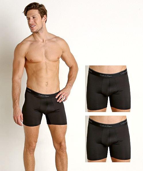 Calvin Klein Microfiber Stretch Boxer Briefs 3-Pack Black NB1290-001 at  International Jock bfeca1753