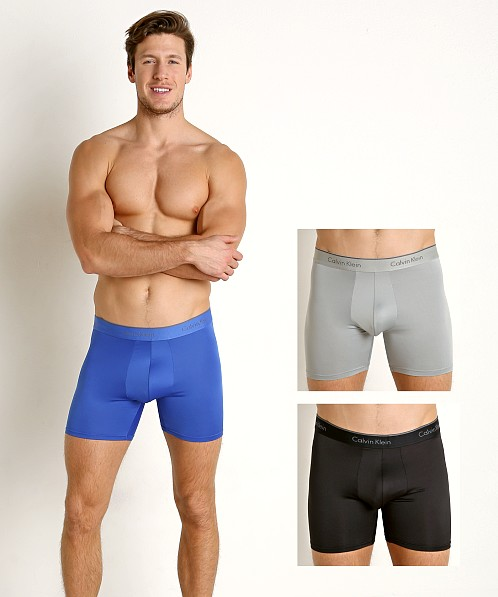 Calvin Klein Microfiber Stretch Boxer Briefs 3-Pack Multi NB1290-902 at  International Jock eeeb9a124