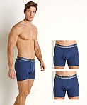 Calvin Klein Comfort Microfiber Boxer Brief 3-Pack Airforce, view 1