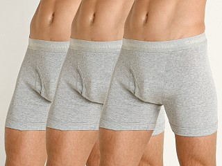Calvin Klein Cotton Classics Boxer Briefs 3-Pack Heather Grey