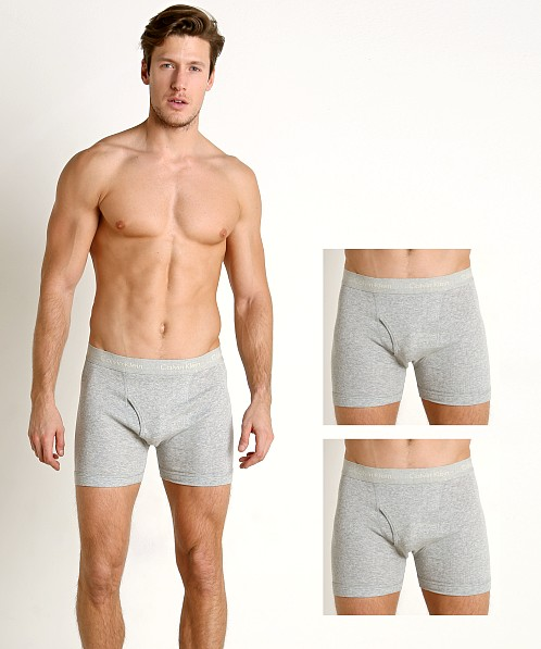 c2aa20b6575b Calvin Klein Cotton Classics Boxer Briefs 3-Pack Heather Grey NU3019-020 at  International Jock