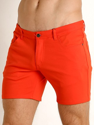 St33le Knit Jeans Shorts Orange