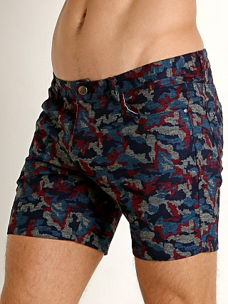 St33le Knit Jeans Shorts Teal Camo