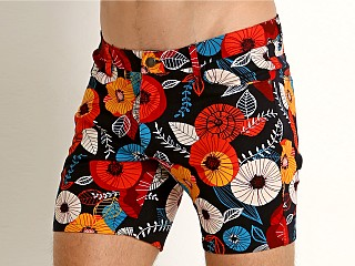St33le Knit Jeans Shorts Red Poppies