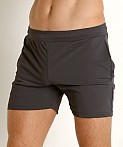 St33le Stretch Mesh Performance Shorts Charcoal, view 3