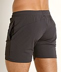 St33le Stretch Mesh Performance Shorts Charcoal, view 4
