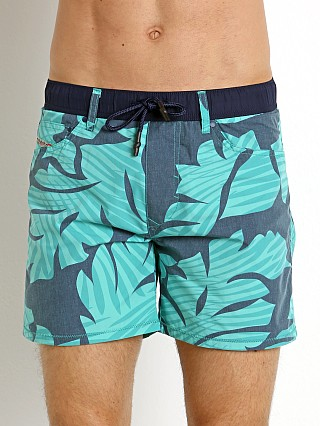 Diesel Waykeeki Palm Leaves Swim Boxer Green
