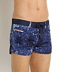 Diesel Tie Dye Waykeeki Swim Shorts Navy, view 3