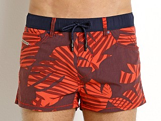 Diesel Waykeeki Palm Leaves Swim Shorts Red