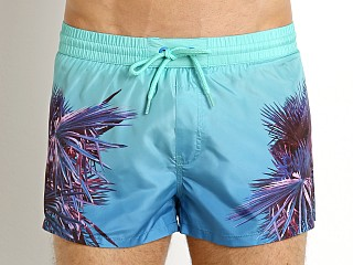 Diesel Palm Print Sandy Swim Shorts Electric Green