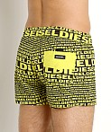 Diesel All Over Logo Sandy Swim Shorts Yellow, view 4