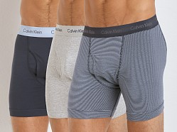 Calvin Klein Cotton Stretch 3-Pack Boxer Brief Blue/Stripe/Grey