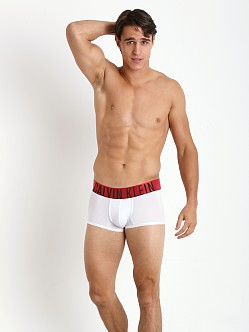 Calvin Klein Power Red Low Rise Trunk White