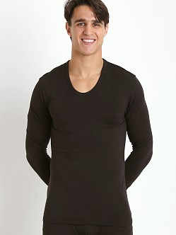 Calvin Klein Thermal Long Sleeve U-Neck Shirt Black