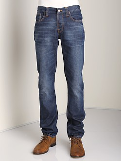 Nudie Jeans Grim Tim Org Steely Blues