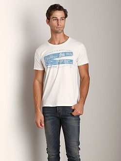 Nudie Jeans Round Neck T-Shirt Org Painted Denim