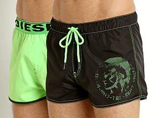 Diesel Sandy Reversible Swim Shorts Electric Green/Black