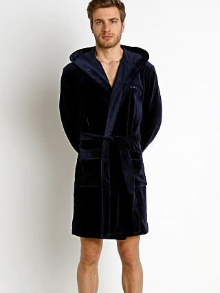Diesel Bathbas Robe Navy