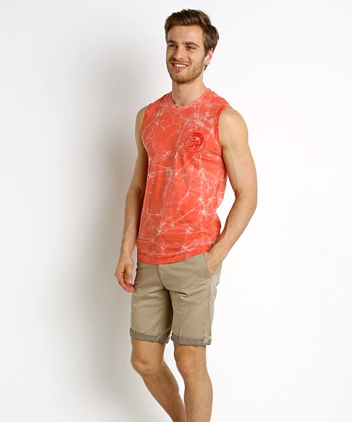 Diesel Adamy Beach Tank Top Hot Coral