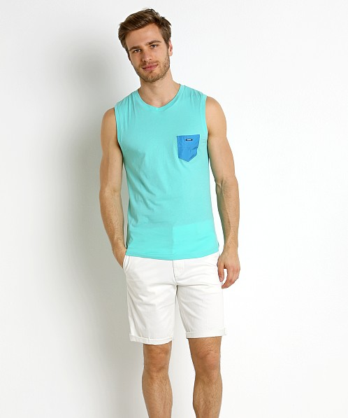 Diesel Adamy Beach Tank Top Electric Green