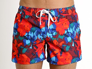 2xist Abstract Floral Ibiza Swim Shorts Poppy