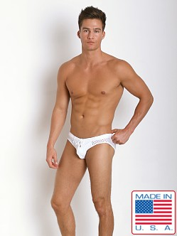 Pistol Pete Cubic Mesh Swim Brief White