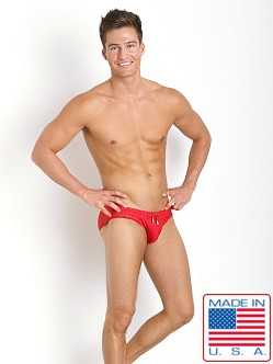 Pistol Pete Cubic Mesh Swim Brief Red