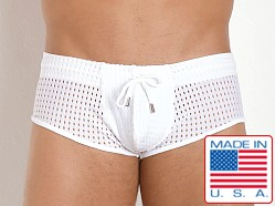 Pistol Pete Cubic Mesh Trunk Brief White