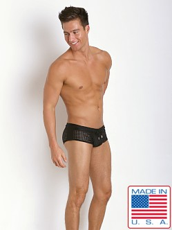 Pistol Pete Cubic Mesh Trunk Brief Black