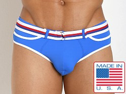 Pistol Pete Dive Belt Buckle Swim Brief Royal
