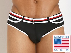 Pistol Pete Dive Belt Buckle Swim Brief Black