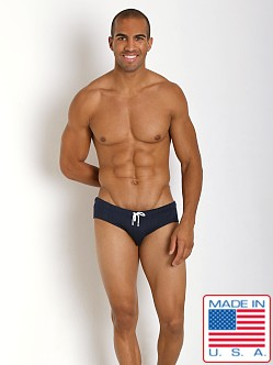 Pistol Pete Twister Quilt Swim Brief Navy